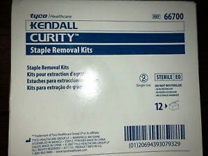Tyco Healthcare Kendall Curity Staple Removal Kits 66700 Box Of 12