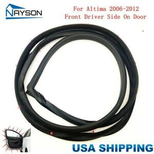 Replacement Door Rubber Seal Weatherstrip Front Left For Nissan Altima 2006 2012