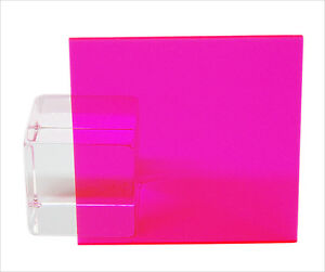 Pink red Fluorescent Acrylic Plexiglass Sheet 1 8 X 6 X 12 9095