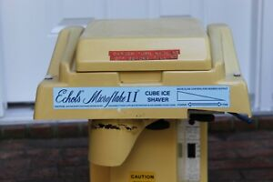 Echols Microflake Ii Snowcone Maker Professional Commercial Snow Cone Shaved Ice