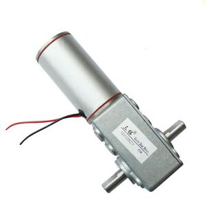 Dc 12v 6rpm 8w 32kg cm High Torque 10mm Double Shaft Low Speed Gear Box Motor