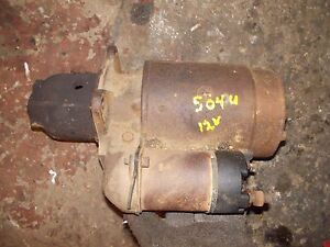 Farmall Ih 504 Utility Ih Tractor Orignal 12v Good Working Starter Assembly