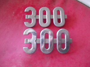 Farmall 300 Utility Tractor Original Ih Utility Chrome Hood Side Emblems Emblem