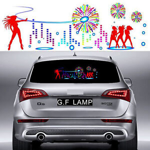 90 25cm Car Music Rhythm Led Light Sticker Sound Activated Equalizer Four Dancer