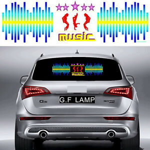 35 Inch Michael Dancing Car Sticker Music Rhythm Led Flash Lamp Sound Equalizer