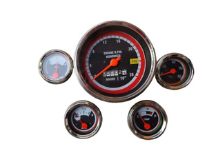 Oliver Tractor Tacho temp amp fuel oil Pressure Gauges Kit 1550 1650 1750