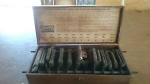 Vintage Electronic Components Condenser Set In Wood Box