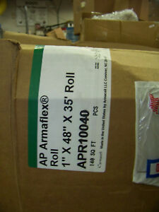 Ap Armaflex Roll 1 X 48 X 35 Foot 140 Sq Ft Pipe Insulation Apr10040