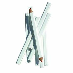 Bon 84 843 7 inch Carpenter Pencil Red Medium Lead With White Casing 72 pack