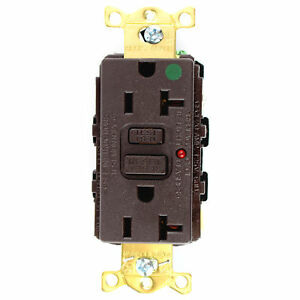 Hubbell Gfr8300hla Commercial Hospital Grade Gfci Receptacle 20a 125v Brown