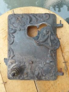 Vintage Castiron Wood Burning Stove Door Part Signfurnace Wood Stove Antique