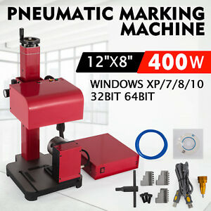 30x20cm Pneumatic Marking Machine Rotary Tool Serial Number 12x8 Inch Tagging