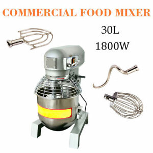 Top 2 4hp 30qt 3 Speed Commercial Dough Food Mixer Gear Driven Bakery Blender