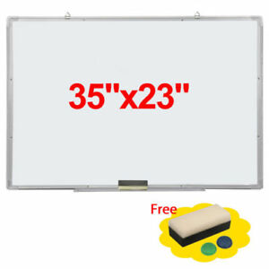 2pcs Single Sided Magnetic Dry erase Whiteboard With Marker Eraser 90 60cm
