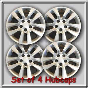 4 16 Silver Nissan Altima Hubcaps Fits 2016 2017 Hub Caps Altima Wheel Covers