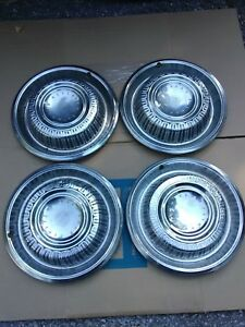 Set Of Four 4 Vintage 1969 Plymouth Barracuda Hubcaps