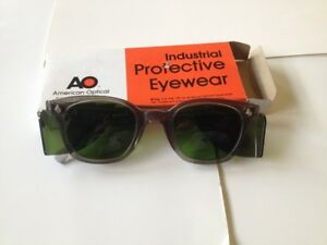 Ao Safety Glasses Green Lens Shield Vintage W box Grinding Welding Fabrication