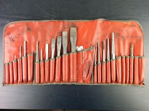 Aa756 Snap On Tools Chisel And Punch Set 16pc Case