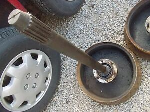 Ford 9n Tractor Rear Main Drive Axle W Bearing Outer Hub To Rim
