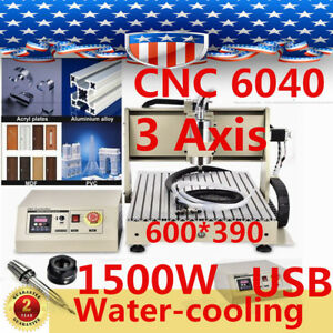 Usb 3 Axis Cnc 6040 Router Engraver Metalworking Milling Machine Carving Us Hot