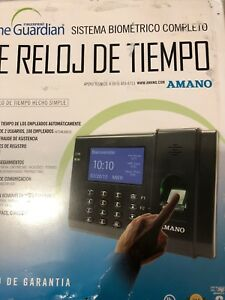 Amano Fpt 80 Time Guardian Fingerprint Complete Biometric Time Clock System New