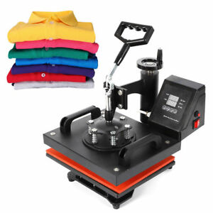 New Digital Heat Press Machine Sublimation T shirt Mug Plate Hat Printer 12 x10