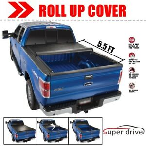 Lock Roll Up Vinyl Tonneau Bed Cover For 2007 2019 Toyota Tundra 5 5 Ft Bed Only