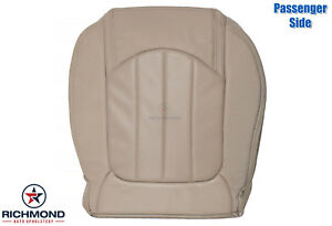 2011 2012 Gmc Acadia Denali passenger Side Bottom Perf Leather Seat Cover Tan