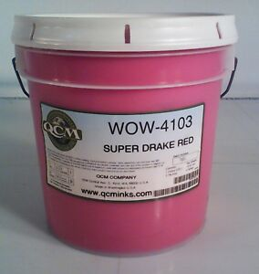 Qcm Super Drake Red Wow 4103 Screen Printing Ink Gallon