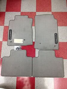 2005 2011 Tacoma Access Cab Carpet Floor Mats light Charcoal Gray genuine Toyota
