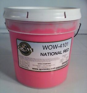 Qcm National Red Wow 4101 Screen Printing Ink Gallon