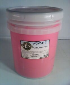 Qcm National Red Wow 4101 Screen Printing Ink 5 Gallon
