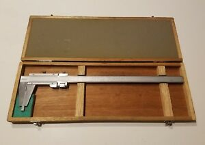 Mitutoyo Japan No 160 124 Vernier Micrometer Caliper Dial W Box Outside Inside