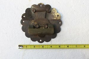 Antique Chinese Hand Carving Brass Lock Without Key