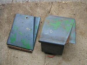 John Deere Mt Tractor Original Jd Hood Panels Panel With Tool Box Tray Right