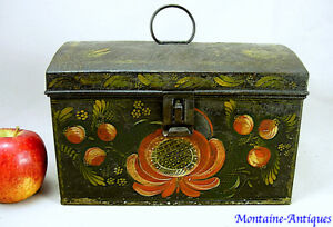 New York Painted Tinware Tole Trunk Box C Early 19th Cent