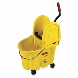 Rubbermaid Wavebreak Down Press wringer Mop Bucket Fg757788yw