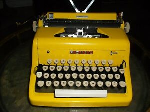 Antique 1960s Sunshine Yellow Royal Manual Portable Typewriter