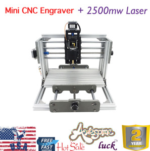 3 Axis Mini Cnc Milling Machine Engraving Diy Router Kit 2500mw Laser Engraver