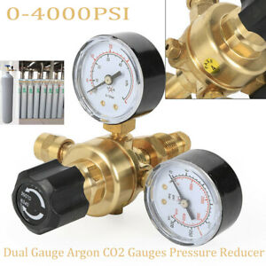 Argon Co2 Brass Regulators Gauges For Welding Cga580 Miller Mig Tig New