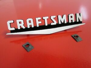 Vintage Sears Craftsman Metal Tool Box Badge Chest Cabinet Stand Emblem Logo