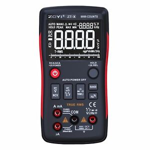 Zoyi Zt x True Rms Digital Multimeter Auto Range With Ncv Data Hold Lcd Backligh