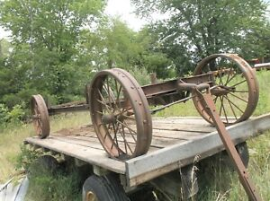 Large Mccormick Deering Steel Wheel Wagon Nice Rare