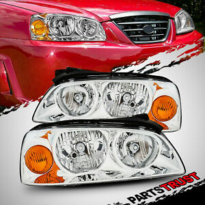For 2004 2005 2006 Hyundai Elantra Chrome Factory Style Replacement Headlights