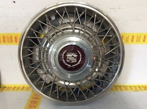 1986 1992 Cadillac Fleetwood Brougham Wire Spoke Hubcap Wheel Cover 14 Oem