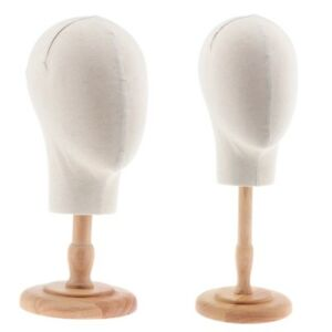 Magideal 2x Canvas Head Extension Wig Making Display Mannequin Model Stand