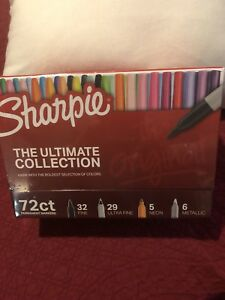 Sharpie Permanent Markers Ultima Collection Pins fine ultra Fine assorted 72 set