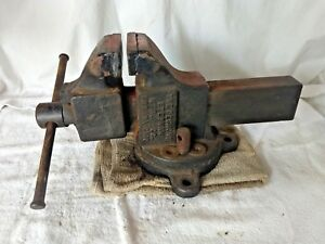 Vintage Simplex Desmond Stephan No 43 S Machinist Swivel Base Vise 4 3 4 Jaws