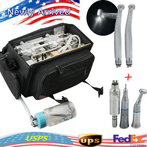 Portable 410w Dental Turbine Unit Oilless air Compressor Suction System