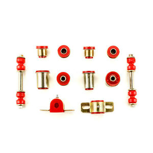 Red Poly Front Suspension Bushing Set Fits 1968 1969 Chevrolet Chevy Ii Nova